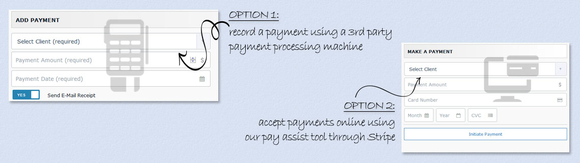 Payment processing options for healh care clinics