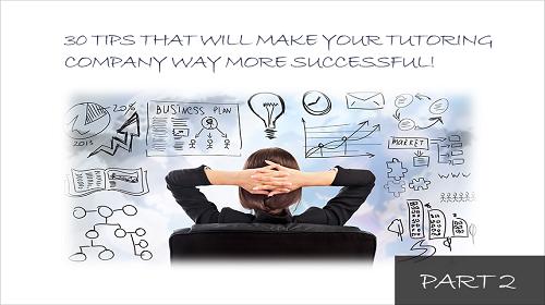 30 tips managing tutoring companies Part 2 Image