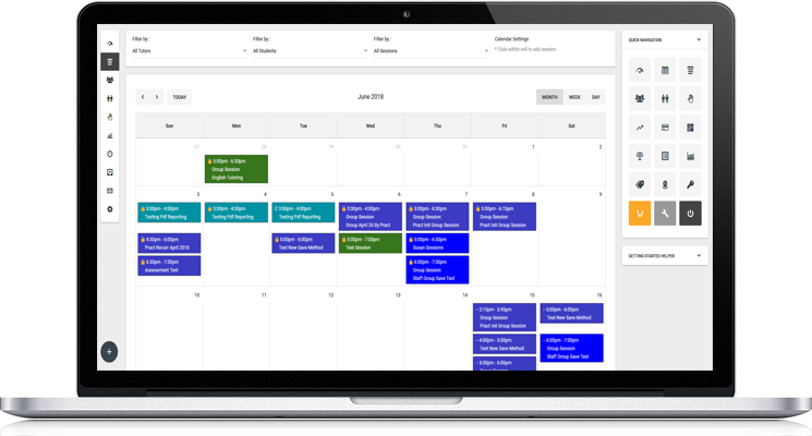 Scheduling Software Dashbaord Image