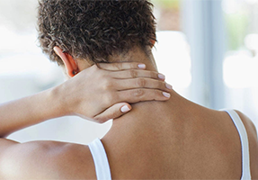 patients with neck pain and low back pain Image