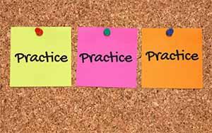 Practice practice practice image