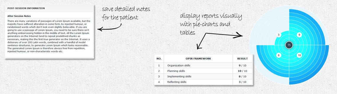 Client reporting tool for behavior therapists, occupational therapists and speech and language therapists