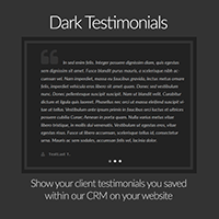 WordPress Plugin: dark testimonial