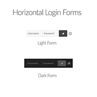 WordPress Plugin: horizontal light and dark login forms