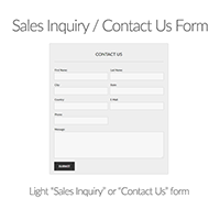 WordPress Plugin: light sales inquiry