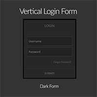 WordPress Plugin: vertical dark login form