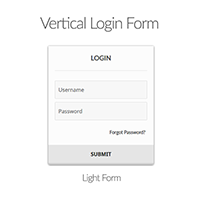 WordPress Plugin: vertical light login form